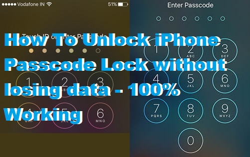 How To Unlock iPhone Passcode Lock without losing data - 100% Working
