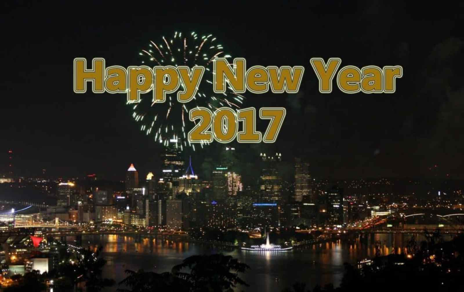 Happy New Year 2017 beautiful city
