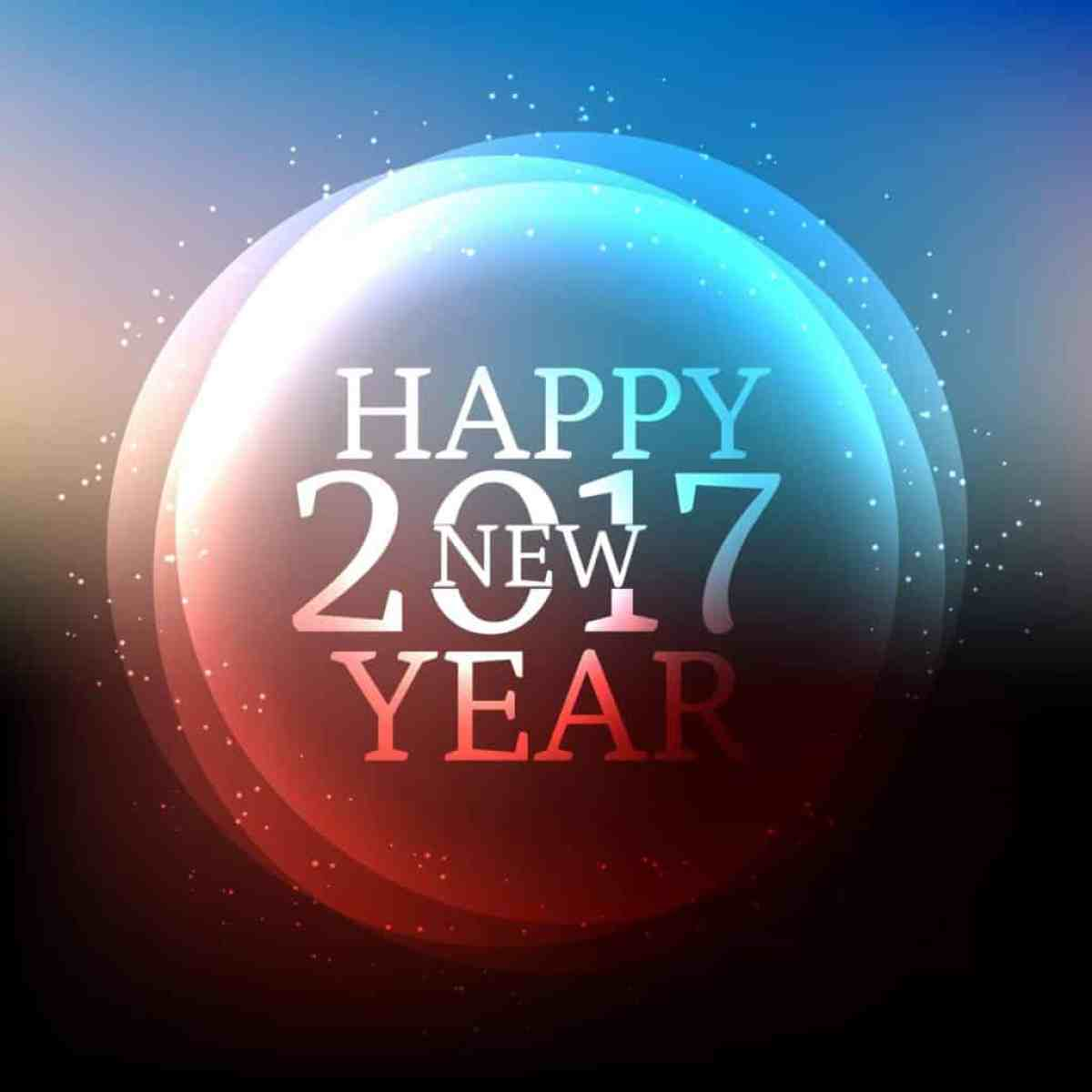 Happy New Year 2017 with shining frame