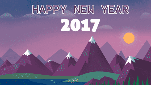 Happy New Year 2017 scenery