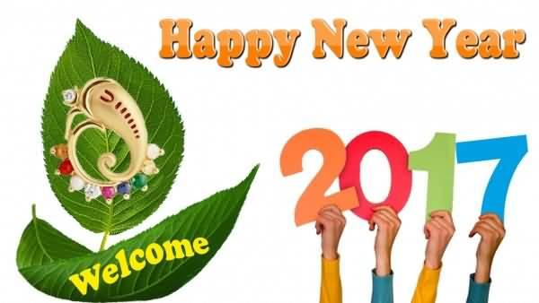 Happy New Year 2017 traditionally