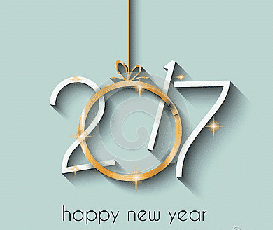 Happy New Year 2017 with a grey background