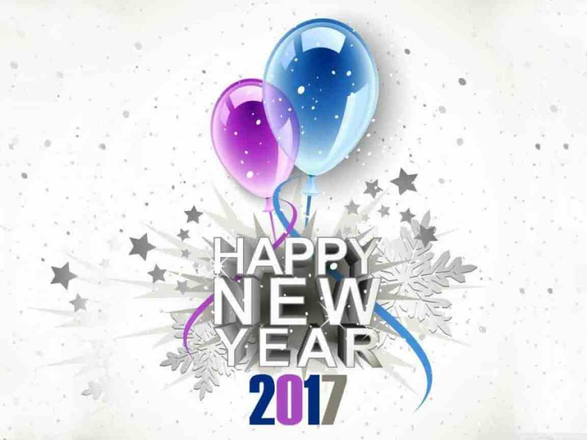 Happy New Year 2017 with ballons