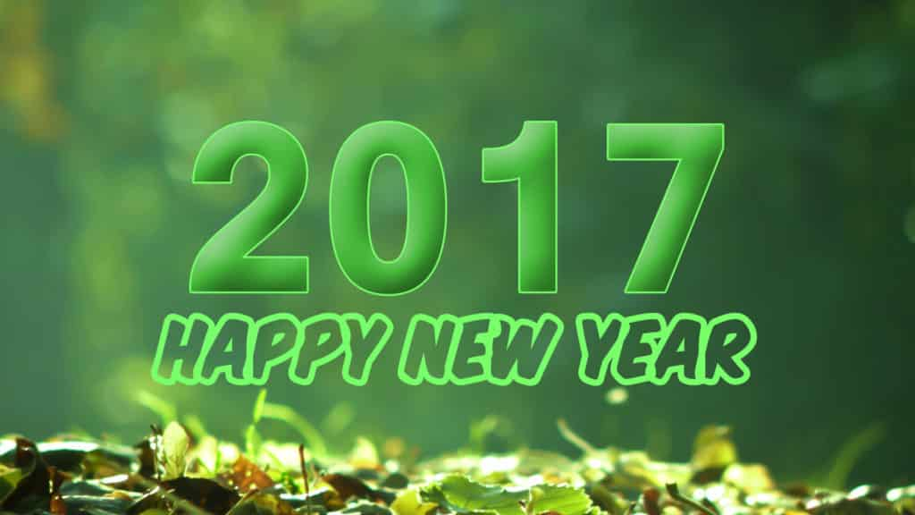 Happy New Year 2017 with eco friendly theme