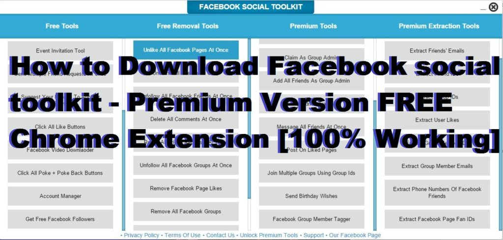 How to Download Facebook social toolkit - Premium Version FREE Chrome Extension [100% Working]