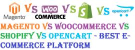 Magento vs WooCommerce vs Shopify vs OpenCart - Best E-Commerce Platform