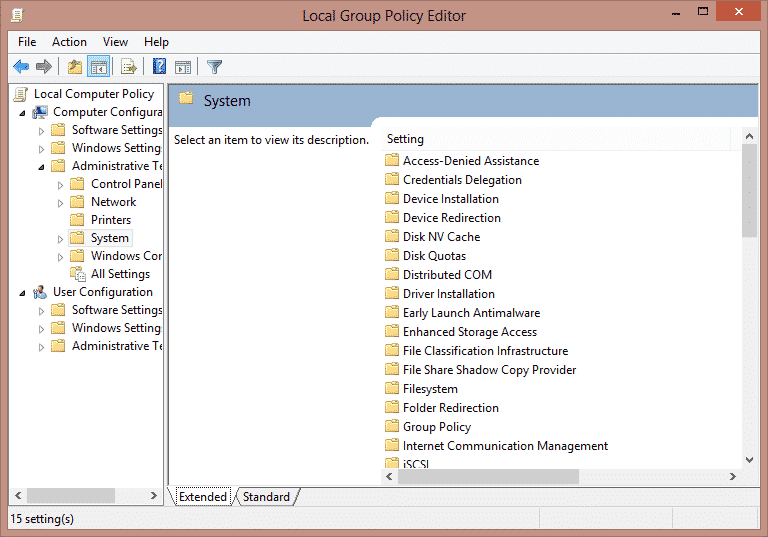"System"" select ""Logon to Use Local Group Policy Editor to Disable Fast User Switching On Windows 7, 8, 8.1 and 10"