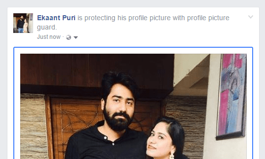 Make Profile Pictures Private on Facebook protecting his profile picture with profile picture guard.