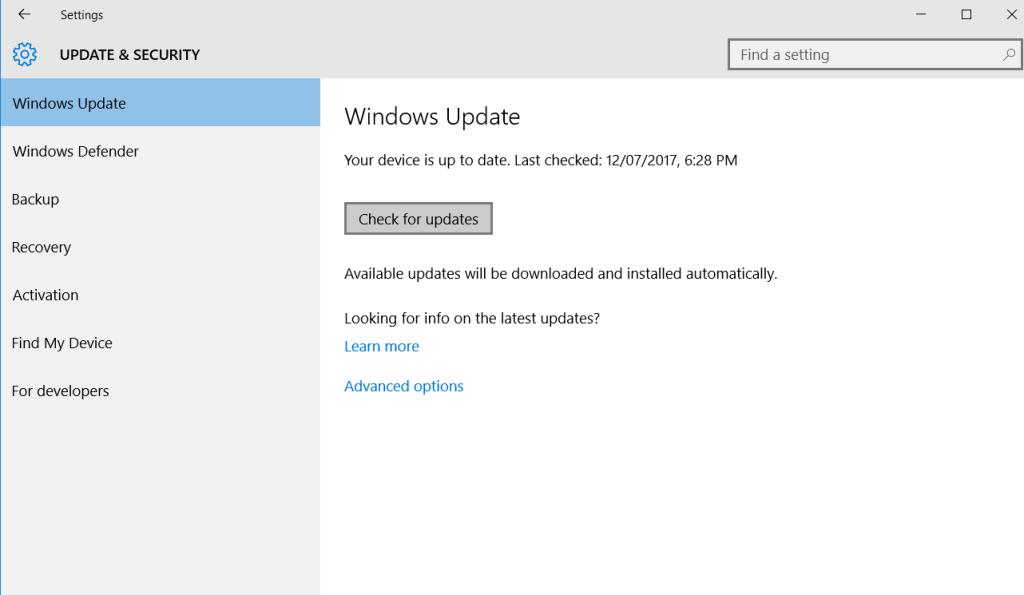 Update Windows to Fix Windows 10 Crashed – Fix Blue Screen