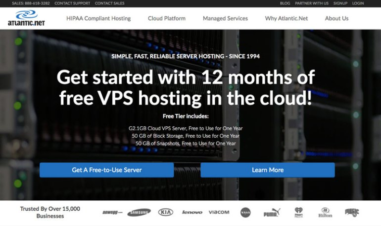 atlantic free cloud hosting