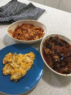 Sambal fish and sambal eggplant