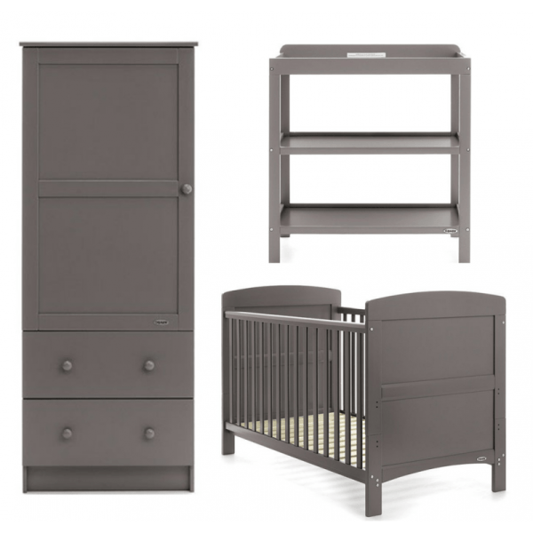 Obaby Grace 3 Piece Room Set - Taupe Grey