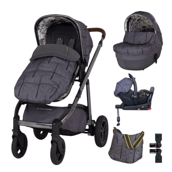 Cosatto Wow Continental Everything Travel System Bundle (Incl. i-Size 0+ Car Seat & Base) - Fika Forest
