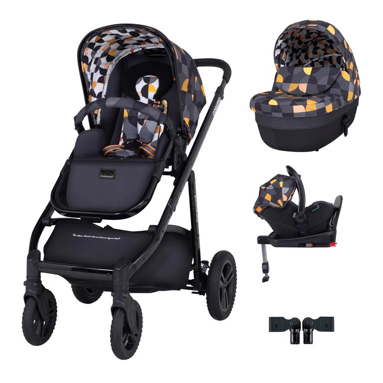 Cosatto Wow Continental i-Size Travel System Bundle (Incl. i-Size 0+ Car Seat & Base) - Debut