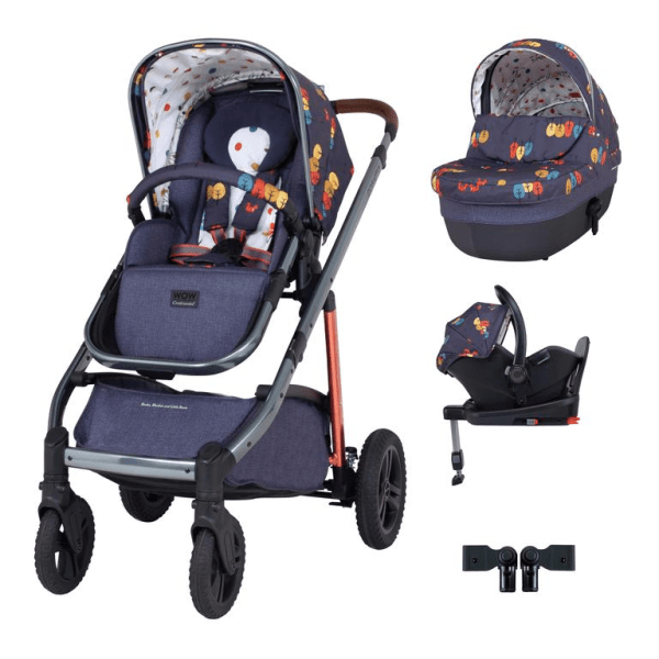 Cosatto Wow Continental i-Size Travel System Bundle (Incl. i-Size 0+ Car Seat & Base) - Parc