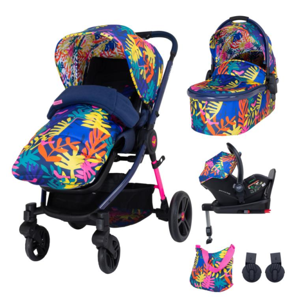 Cosatto Wowee Everything Travel System Bundle (Incl. i-Size 0+ Car Seat & Base) - Club Tropicana