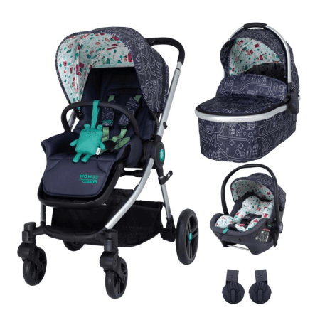 Cosatto Wowee Premium Travel System Bundle (Incl. RAC i-Size 0+ Car Seat) - My Town