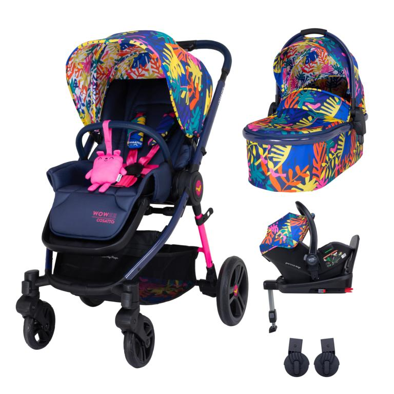 Cosatto Wowee i-Size Travel System Bundle (Incl. i-Size 0+ Car Seat & Base) - Club Tropicana