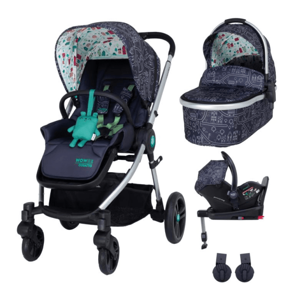 Cosatto Wowee i-Size Travel System Bundle (Incl. i-Size 0+ Car Seat & Base) - My Town