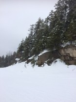 View from ski trail