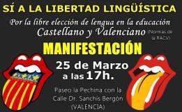 Manifestación en Valencia contra el decreto del Plurilingüismo