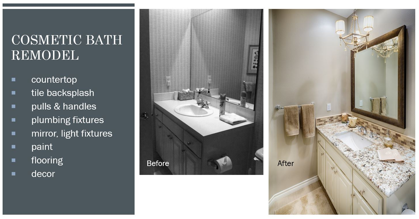 Cosmetic Bath Remodel Costs