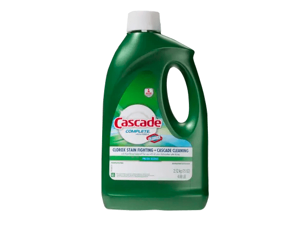 Cascade Complete Gel With The Power Of Clorox Dishwasher