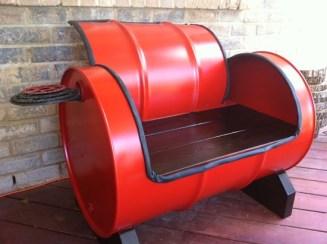 55 gallon drum seat