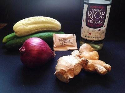 Ingredients for Cucumbers Sunomono
