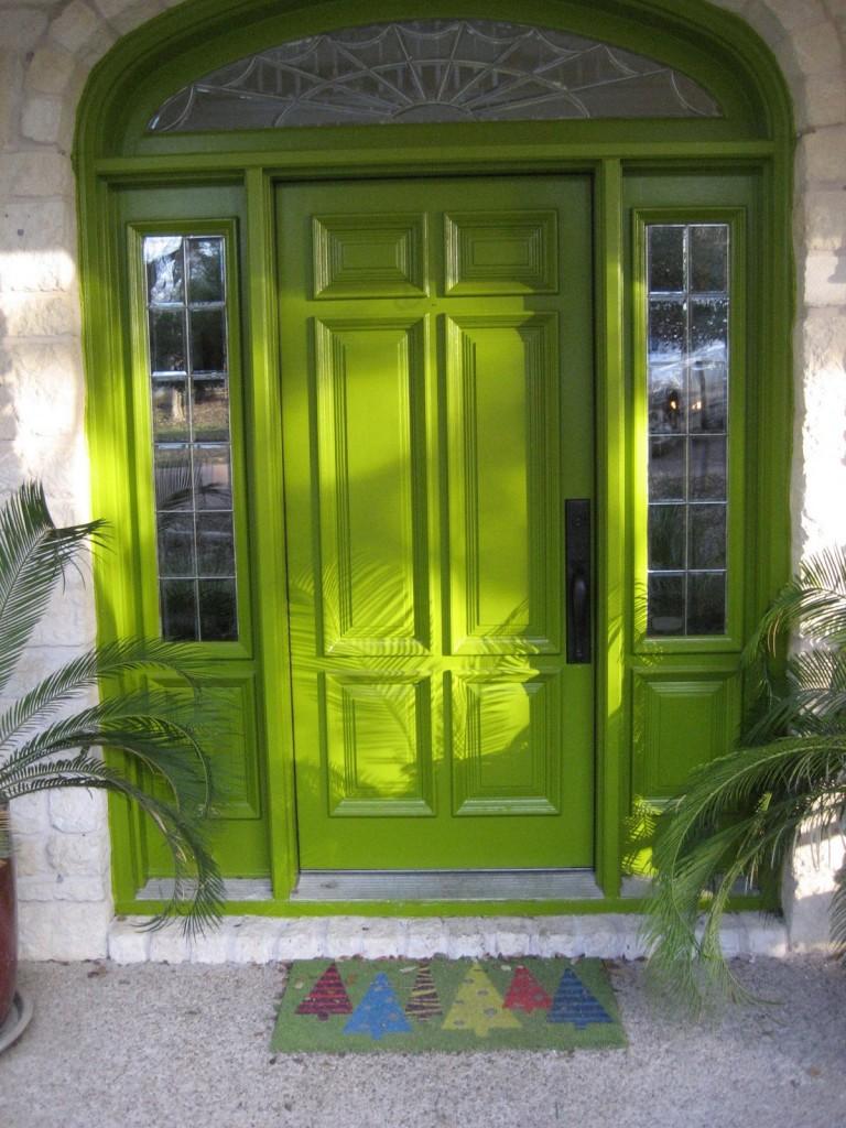 Front Yellow Feng Shui Door