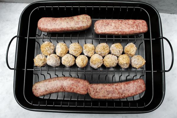 Davison Meatball Baker meatballs & brats
