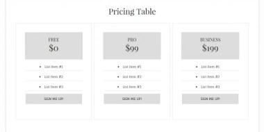 Add a Simple Pricing Table to Your Theme Without a Plugin