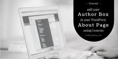 How to Add Your Author Box to Your About Page in Genesis