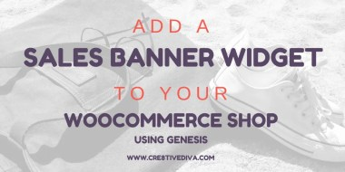 Add a Sales Banner Widget Area to Your WooCommerce Shop Using Genesis