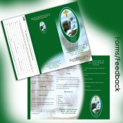Living Waters Center 9x12 Tri-Fold & Perforated Donation Form