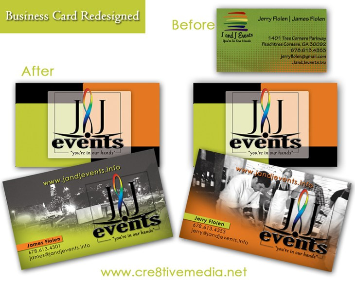 J & J Events BCard Comparison