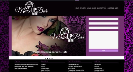 1101 Makeup Bar Website