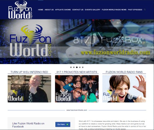Fuzion World Radio Website