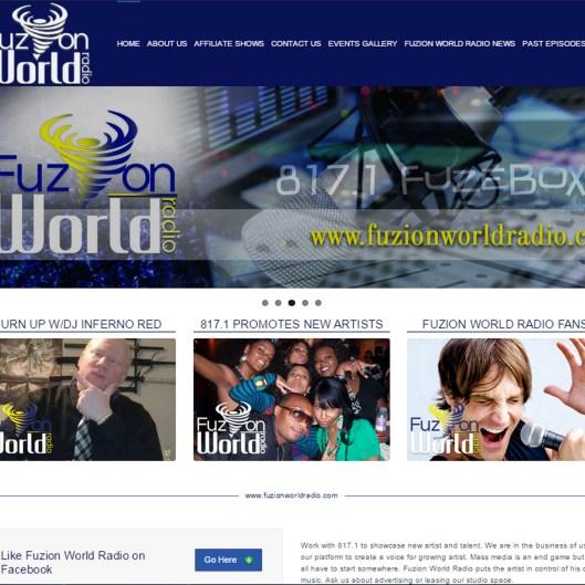Fuzion World Radio Website
