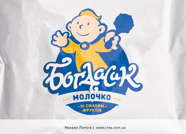 разработка дизайна и названия торговой марки детского ароматизированного молока «Богдасик» | Михаил Литюга