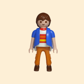 Playmobil veste bleue
