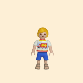 Playmobil enfant blond