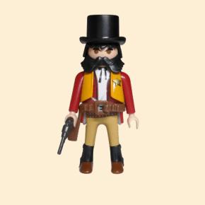shérif veste orange chapeau noir