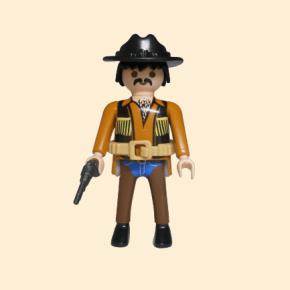 cow-boy chapeau noir