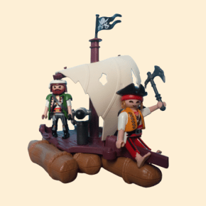 playmobil radeau pirate voile blanche
