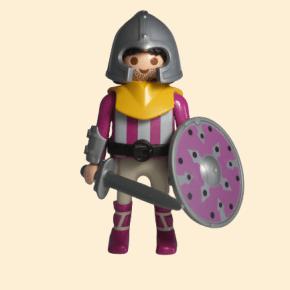 Guerrier barbare avec épée et bouclier