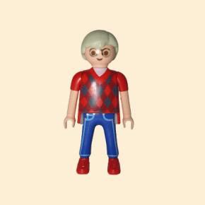 playmobil tee shirt rouge et jean