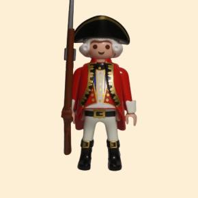 Officier britannique avec son fusil