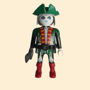 Pirate fantôme tricorne vert