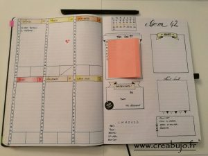 Weekly log bullet journal